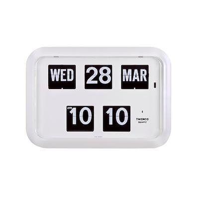 Calendar Flip Clock QD35 - White