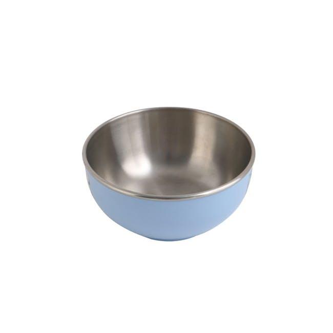 Zebra Stainless Steel Colour Bowl - Blue (2 Sizes) - 1