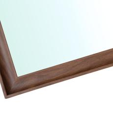 Beveled Frame Half-Length Mirror - Walnut