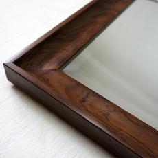 Beveled Frame Full-Length Mirror - Walnut