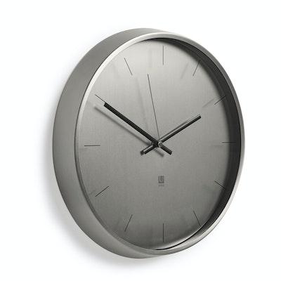 Meta Wall Clock - Nickel