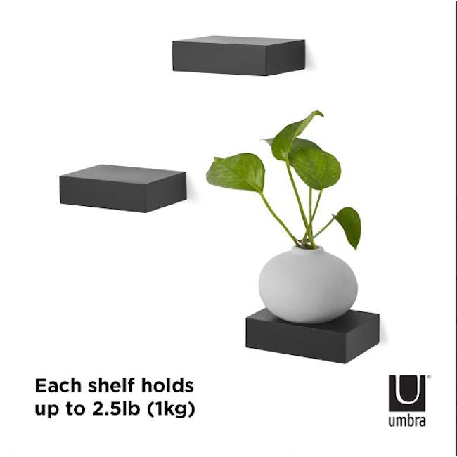 Showcase Floating Shelf - Black (Set of 3) - 3