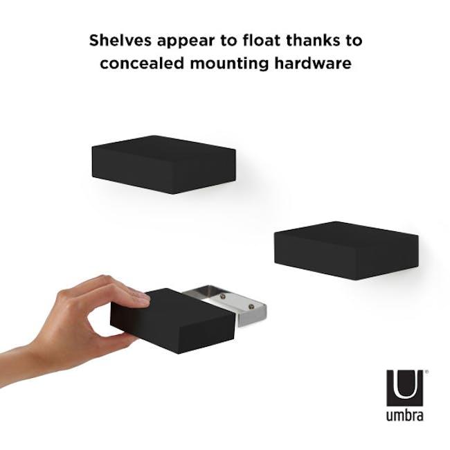 Showcase Floating Shelf - Black (Set of 3) - 1