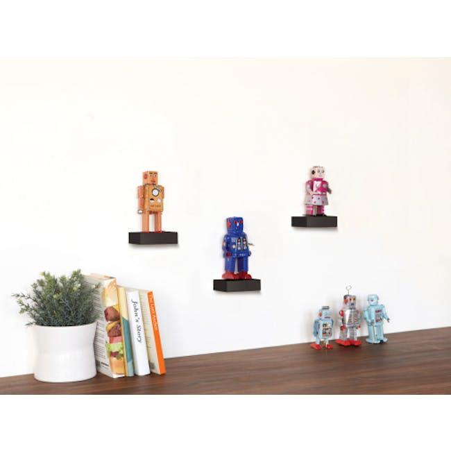 Showcase Floating Shelf - Black (Set of 3) - 6
