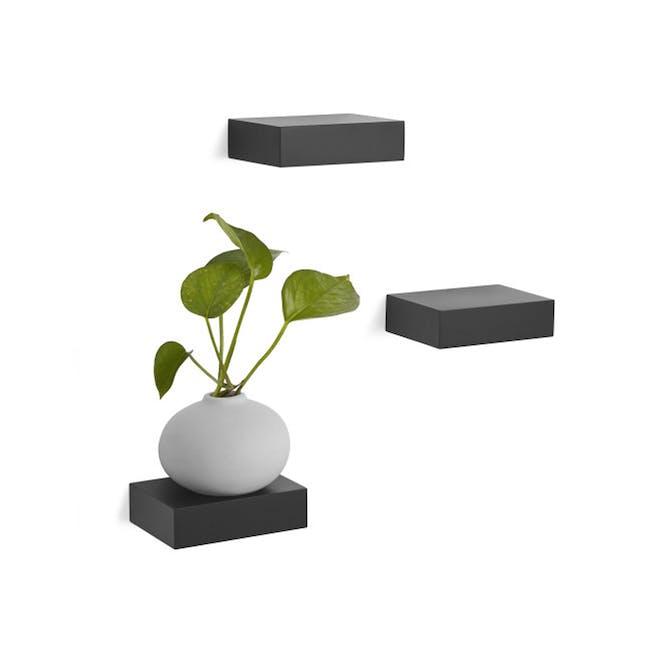 Showcase Floating Shelf - Black (Set of 3) - 0