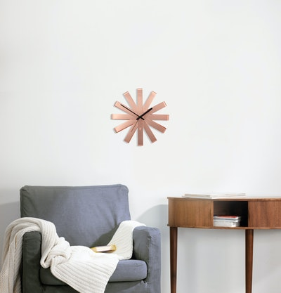 Ribbon Wall Clock - Copper