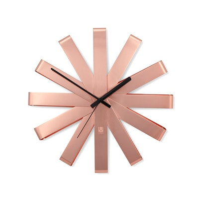 Ribbon Wall Clock - Copper - Image 1