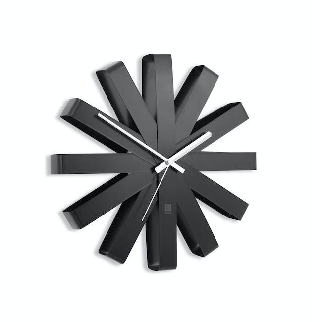 Ribbon Wall Clock - Black - 2