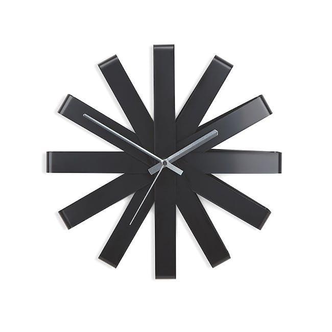 Ribbon Wall Clock - Black - 0