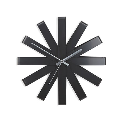 Ribbon Wall Clock - Black - Image 1