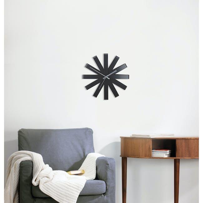 Ribbon Wall Clock - Black - 1