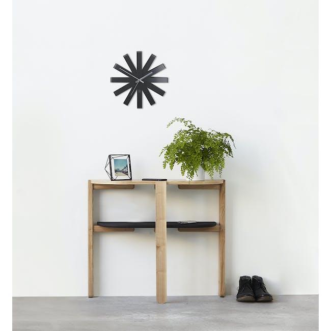 Ribbon Wall Clock - Black - 3