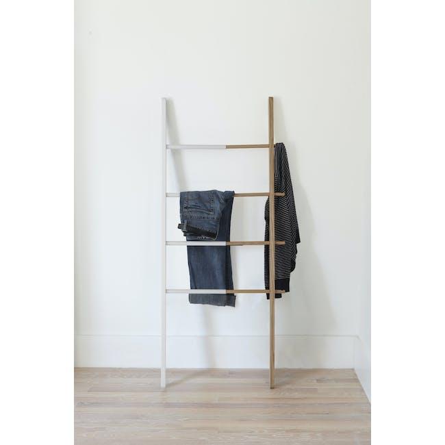 Hub Ladder - White, Natural - 1
