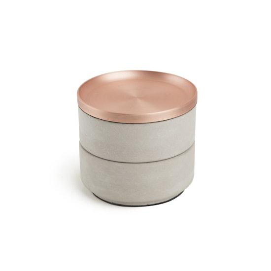 Umbra - Tesora Box - Concrete, Copper