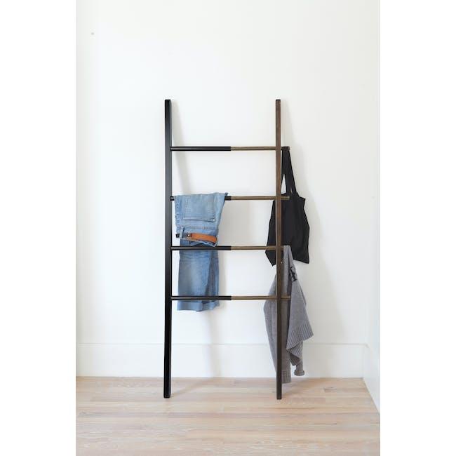 Hub Ladder - Black, Walnut - 1