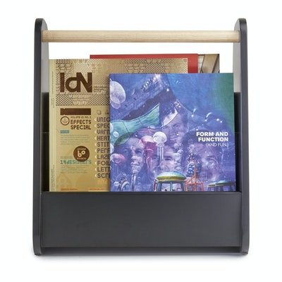 Gazette Magazine Rack - Black, Natural - Image 2