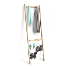 Leanera Coat & Shoe Rack - White/Natural
