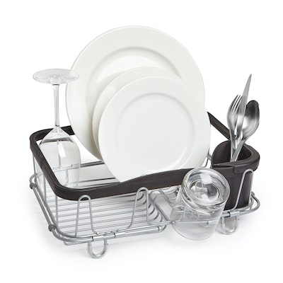 Sinkin 3-in-1 Dish Rack - Black/Nickel - Image 1