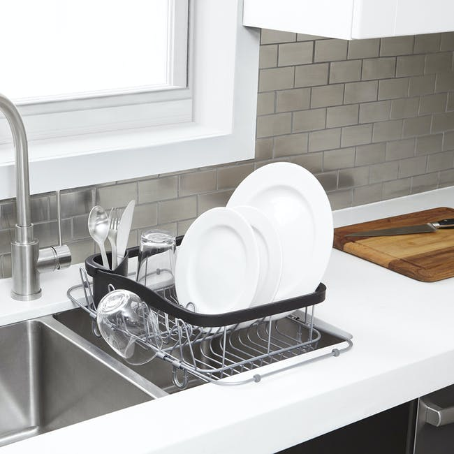 Sinkin 3-in-1 Dish Rack - Black, Nickel - 1