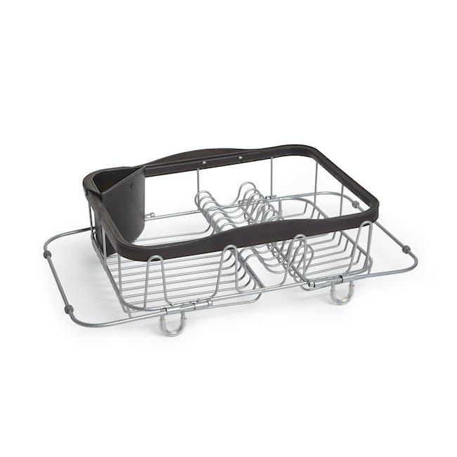 Sinkin 3-in-1 Dish Rack - Black, Nickel - 4