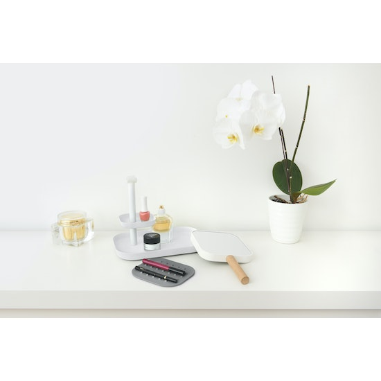 Umbra - Vana Organiser with Double Sided Mirror - White