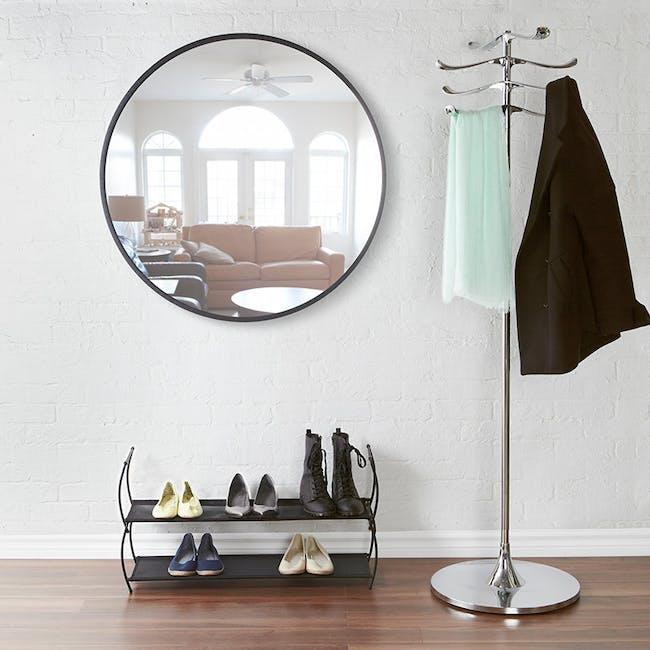 Hub Round Mirror 91 cm - Black - 5