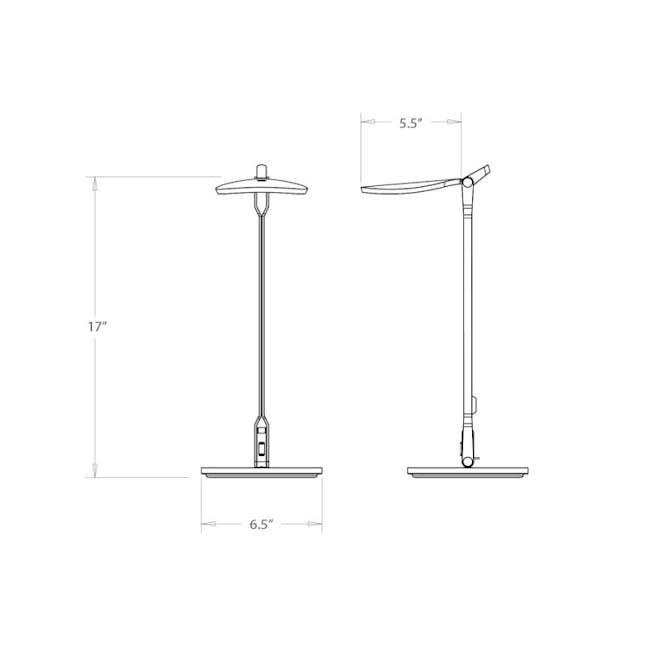 Koncept Splitty Desk Lamp - Soft Warm Silver - 2