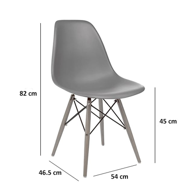 DSW Chair Replica - Natural, Clear - 4