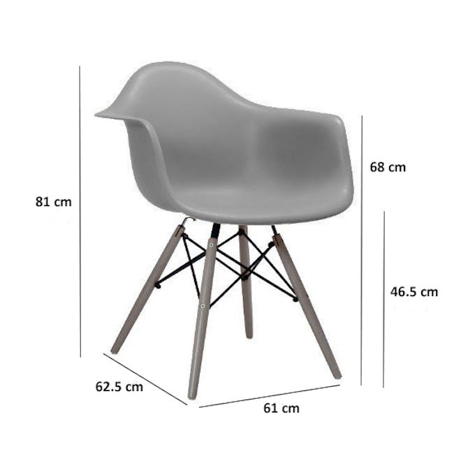 DAW Chair - Natural, White - 8