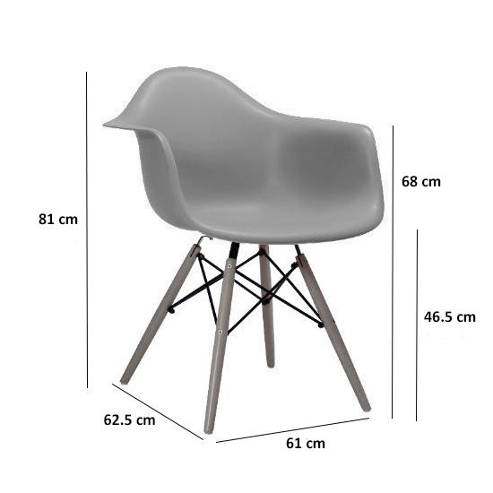 Lichang - DAW Chair - Natural, White