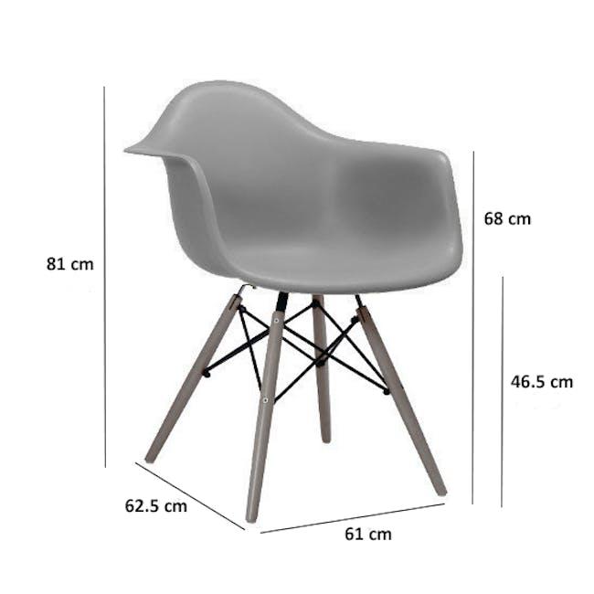 DAW Chair Replica - Natural, Black - 8