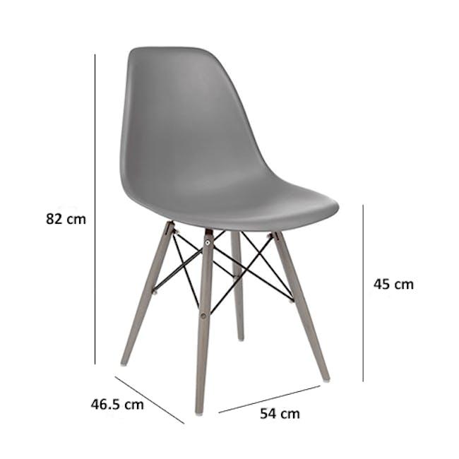 DSW Chair Replica - Natural, White - 5