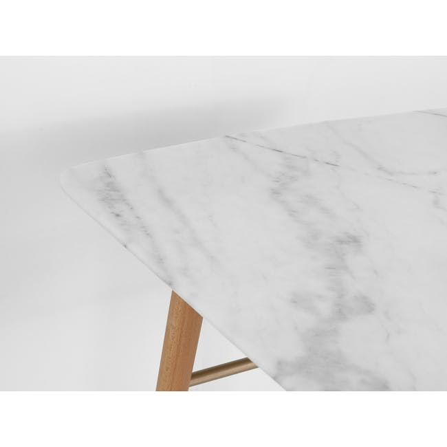 (As-is) Hagen Marble Dining Table 1.8m - 4 - 22