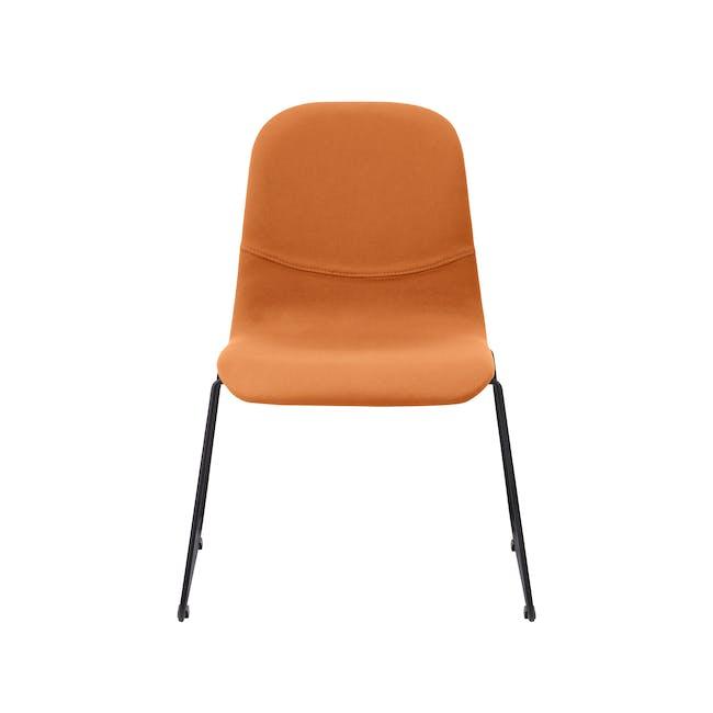 Ava Dining Chair - Matt Black, Tangerine - 4