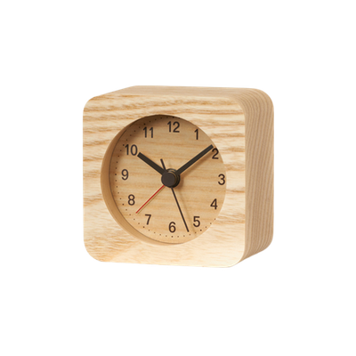 Rest Square Alarm Clock - Natural - Image 2