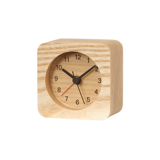 Lemnos - Rest Square Alarm Clock - Natural