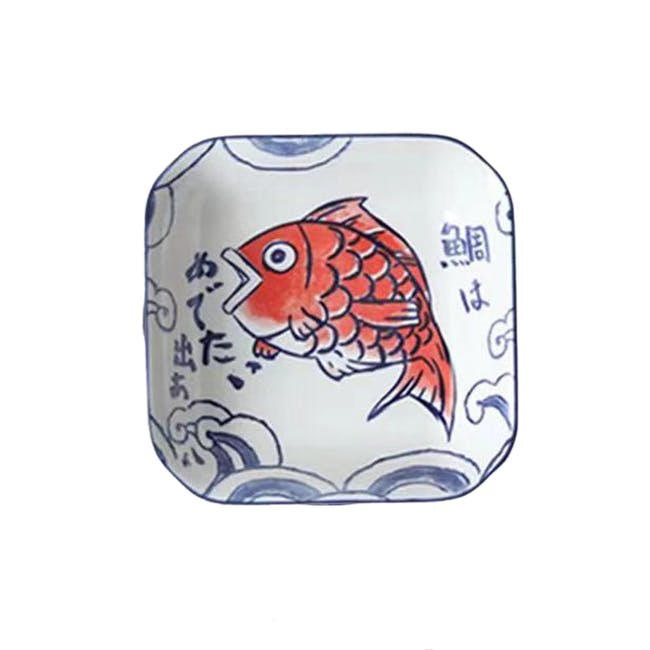 Table Matters Red Tai  Square Plate - 0