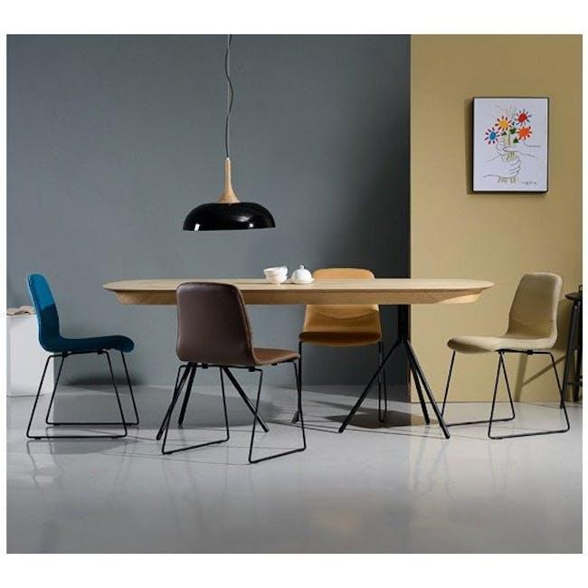 Ava Dining Chair - Matt Black, Tangerine - 8
