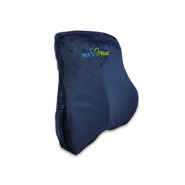 True Relief Ortho-Back & Lumbar Support Memory Foam Cushion - Navy - 0