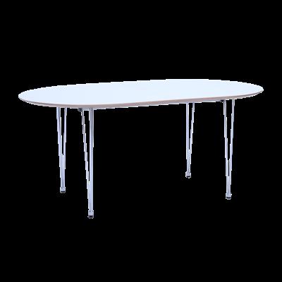Rikku Extendable Dining Table 1.7m - White, Oak, Chrome - Image 1
