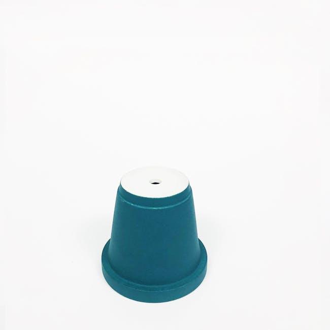 Matte Glaze Mini Plant Pot - Chalk White - 3