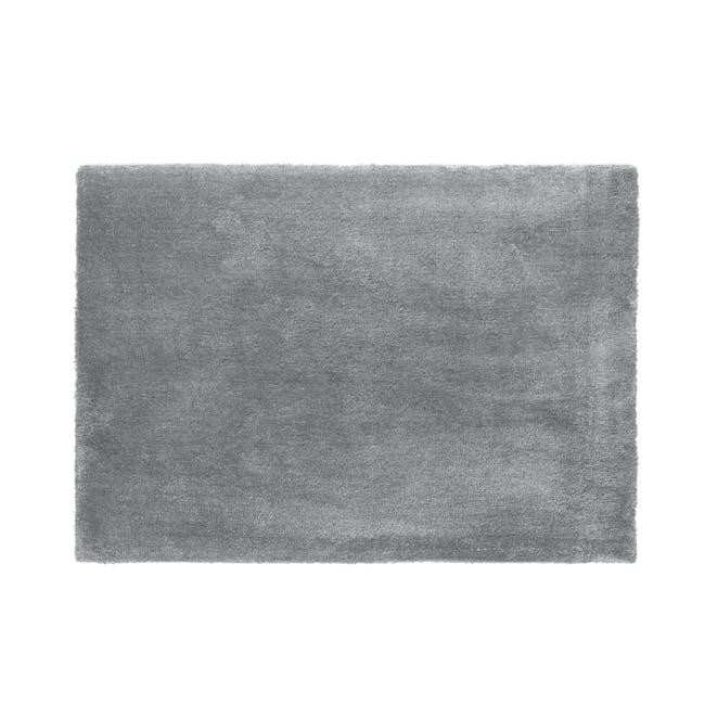 Mia High Pile Rug 2.3m x 1.6m - Grey - 0