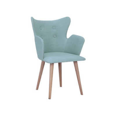 Kaia Dining Arm Chair - Aquamarine, Oak - Image 2