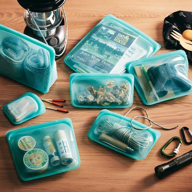 Stasher Reusable Silicone Bag - Stand-Up - Aqua - 4