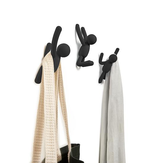 Umbra - Buddy Wall Hook (Set of 3) - Black