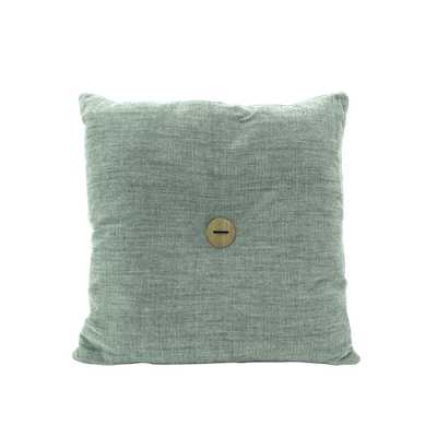 Distintivo Square Cushion - Grey Goose, Down Feathers (Domett Fabric) - Image 1