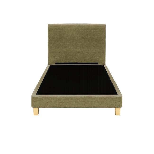 ESSENTIALS Super Single Headboard Divan Bed - Khaki (Fabric) - 1