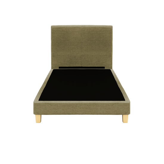 Chen Dynasty - ESSENTIALS Super Single Headboard Divan Bed - Khaki (Fabric)