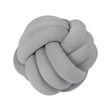 Knot Cushion Plush - Cool Grey