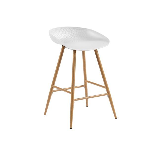 Clayton Counter Chair - White - 0